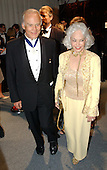 "Former Astronaut Edwin ""Buzz"" Aldrin and his wife, Lois Driggs Cannon, arrive for the  party hosted by Bloomberg News following the 2003 White House Correspondents Dinner in Washington, DC on April 26, 2003. Aldrin landed on the moon during the historic Apollo 11 mission.<br /> Credit: Ron Sachs / CNP"