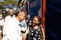 ÃO PAULO,SP,14.09.2014 - GERALDO ALCKMIN VISITA PQ FIORI GIGLIOTTI  - O candidato ao governo de São Paulo Geraldo Alckmin visitou na  manhã de hoje (14) o  Parque Sabesp Mooca Radialista Fiori Gigliotti, na Mooca região leste de São Paulo o parque foi inaugurado ontem (13). (Foto Ale Vianna/Brazil Photo Press).