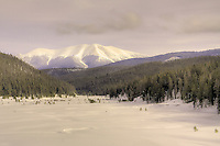 A Fine Art Photography image of Rocky Mountain National Park in winter