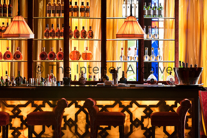 Detail of the bar at Le Restaurent Italian