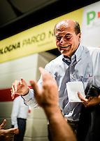 Bologna, dal 29 agosto 2014. Pier Luigi Bersani solleva la questione del doppio incarico di Matteo Renzi (Primo ministro e segretario del partito).