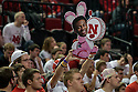March 1, 2014: One Husker fans holds up an Engergizer Bunny with Benny Parker (3) of the Nebraska Cornhuskers face on it with a big red N in the game against the Northwestern Wildcats at the Pinnacle Bank Arena, Lincoln, NE. Nebraska 54 Northwestern 47.