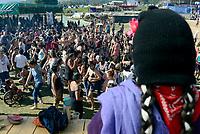 Chiapas, Mexico, 10 Marzo 2018<br /> PRIMO INCONTRO INTERNAZIONALE, POLITICO, ARTISTICO, SPORTIVO E CULTURALE DELLE DONNE CHE LOTTANO.<br /> Migliaia di donne provenienti da tutto il mondo si incontrano dal 8 al 10 Marzonel Caracol di Morelia con workshops e laboratori,<br /> L'incontro è organizzato dalle donne zapatiste dell'Esercito Zapatista di Liberazione Nazionela