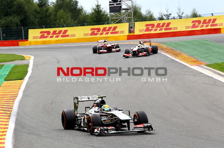 22.08 - 25.08.2013, Circuit de Spa, Francorchamps, BEL, F1, Grosser Preis von Belgien, im Bild  DHL Branding - Esteban Gutierrez (MEX) Sauber F1 Team <br />  Foto &copy; nph / Mathis