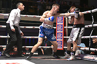 Liam Dillon (blue shorts) defeats Antonio Horvatic during a Boxing Show at York Hall on 8th September 2018
