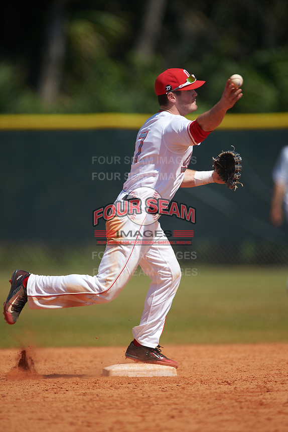 Ohio State Buckeyes shortstop Craig Nennig (7) during a game against the Seton Hall Pirates on March 4, 2016 at North Charlotte Regional Park in Port Charlotte, Florida.  Ohio State defeated Seton Hall 9-3.  (Mike Janes/Four Seam Images)