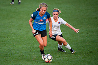Kansas City, MO - Sunday September 3, 2017: Brittany Ratcliffe, Cassidy Benintente during a regular season National Women's Soccer League (NWSL) match between FC Kansas City and Sky Blue FC at Children's Mercy Victory Field.