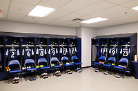 Harrison, NJ - Wednesday Feb. 22, 2017: Vancouver Whitecaps FC locker room prior to a Scotiabank CONCACAF Champions League quarterfinal match between the New York Red Bulls and the Vancouver Whitecaps FC at Red Bull Arena.
