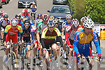 .RACE: Action from the annual John Drumm Memorial Cycle Race in Currow on Sunday last.   Copyright Kerry's Eye 2008