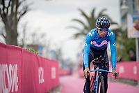 Mikel Landa (ESP/Movistar) at the morning iTT course recon<br /> <br /> preparations for Stage 9 (ITT): Riccione to San Marino (34.7km)<br /> 102nd Giro d'Italia 2019<br /> <br /> ©kramon