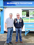 Malachy McGrane of McGrane's XL Stores Sandpit pictured with Frank Duff at the Fun Day to celebrate 10 years in business. Photo:Colin Bell/pressphotos.ie