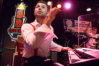 Memphis, Tennessee, February 2009. Live music of the Boogie Boys of Poland, at BB Kings Blues Club during the 25th International Blues Challenge. Beale Street is known for its famous Blues Clubs with daily live performances. The city of Memphis is the place where Blues and Soul Music grew famous. Photo by Frits Meyst/Adventure4ever.com