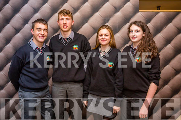 The Tralee Parishes Transition Year  Day  held at Ballyroe Hotel on Tuesday. Pictured l-r Ryan O'Neill, Gerde Roister,     Ciara Dynan and Melanie Pierce from Gaelcholáiste Chiarraí
