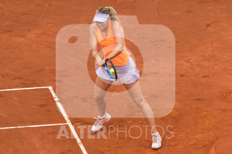 Maria Sharapova during  Mutua Madrid Open Tennis 2017 at Caja Magica in Madrid, May 08, 2017. Spain.