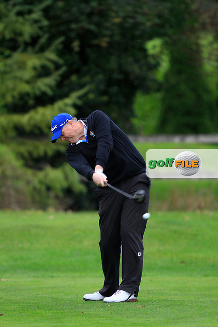 David Mortimer (Galway G.C) on the 3rd tee during Round 4 of The Cassidy Golf 103rd Irish PGA Championship in Roganstown Golf Club on Sunday 13th October 2013.<br /> Picture:  Thos Caffrey / www.golffile.ie