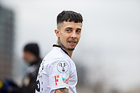 DAPPY during the SOCCER SIX Celebrity Football Event at the Queen Elizabeth Olympic Park, London, England on 26 March 2016. Photo by Andy Rowland.