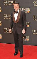 Joe McElderry at the Olivier Awards 2018, Royal Albert Hall, Kensington Gore, London, England, UK, on Sunday 08 April 2018.<br /> CAP/CAN<br /> &copy;CAN/Capital Pictures<br /> CAP/CAN<br /> &copy;CAN/Capital Pictures