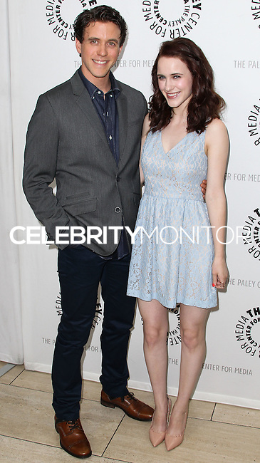 BEVERLY HILLS, CA, USA - JULY 09: Ashley Zukerman, Rachel Brosnahan at The Paley Center For Media's An Evening With WGN America's 'Manhattan' held at The Paley Center for Media on July 9, 2014 in Beverly Hills, California, United States. (Photo by Xavier Collin/Celebrity Monitor)