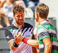Paris, France, 2 june, 2019, Tennis, French Open, Roland Garros, Mens doubles : Robin Haase (NED) and Frederik Nielsen (DEN) (R)<br /> Photo: Henk Koster/tennisimages.com