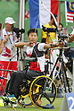 Tomohiro Ueyama (JPN),<br /> SEPTEMBER 10, 2016 - Archery : <br /> Men's Individual Compound Open<br /> at Sambodromo<br /> during the Rio 2016 Paralympic Games in Rio de Janeiro, Brazil.<br /> (Photo by Shingo Ito/AFLO)