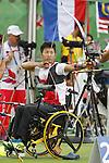 Tomohiro Ueyama (JPN),<br /> SEPTEMBER 10, 2016 - Archery : <br /> Men's Individual Compound Open<br /> at Sambodromo<br /> during the Rio 2016 Paralympic Games in Rio de Janeiro, Brazil.<br /> (Photo by Shingo Ito/AFLO)
