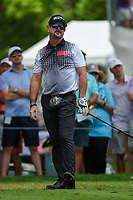 Rory Sabbatini (RSA) watches his tee shot on 3 during round 3 of the 2019 Charles Schwab Challenge, Colonial Country Club, Ft. Worth, Texas,  USA. 5/25/2019.<br /> Picture: Golffile | Ken Murray<br /> <br /> All photo usage must carry mandatory copyright credit (© Golffile | Ken Murray)
