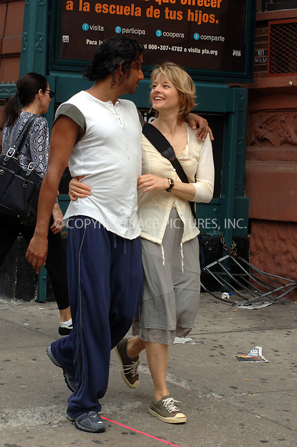 WWW.ACEPIXS.COM . . .  ....June 14, 2006, New York City....Jodie Foster and Naveen Andrews on the set of 'The Brave One'. ....Please byline: PHILIP VAUGHAN - ACEPIXS.COM.. *** ***  ..Ace Pictures, Inc:  ..(212) 243-8787..e-mail: info@acepixs.com..web: http://www.acepixs.com