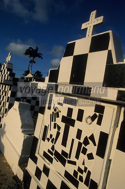 Europe/France/DOM/Antilles/Petites Antilles/Guadeloupe/Morne-à-l'Eau : Le cimetière