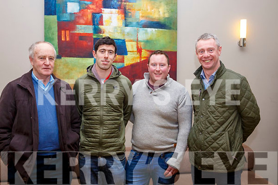 Attending the Teagasc Kerry Spring Tillage Seminar in the Ballyroe Heights Hotel on Thursday night last, l-r, Dominic O'Flaherty (Ardfert), Paul Barrett (Causeway), Kevin Leahy (Causeway) and Kieran Collins (Teagasc).