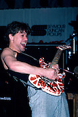 Eddie Van Halen Live at The Kramer Guitar Namm Jamm 1986..Photo Credit: Eddie Malluk/AtlasIcons.com