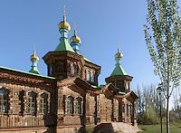 H&ouml;lzerne Orthodoxe Dreifaltigkeit-Kirche in Karakol, Kirgistan, Asien<br /> Wooden Orthodox Holy Trinity Church in Karakol, Kirgistan, Asia