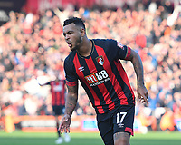 Joshua King of AFC Bournemouth scores and celebrates during AFC Bournemouth vs Arsenal, Premier League Football at the Vitality Stadium on 25th November 2018