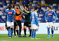 1st December 2019; Stadio San Paolo, Naples, Campania, Italy; Serie A Football, Napoli versus Bologna; Takehiro Tomiyasu of Bologna celebrates as his team come from behind to win 1-2 against Napoli - Editorial Use