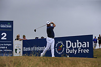Lee Westwood (ENG) tees off the 2nd tee during Saturday's Round 3 of the 2018 Dubai Duty Free Irish Open, held at Ballyliffin Golf Club, Ireland. 7th July 2018.<br /> Picture: Eoin Clarke | Golffile<br /> <br /> <br /> All photos usage must carry mandatory copyright credit (&copy; Golffile | Eoin Clarke)
