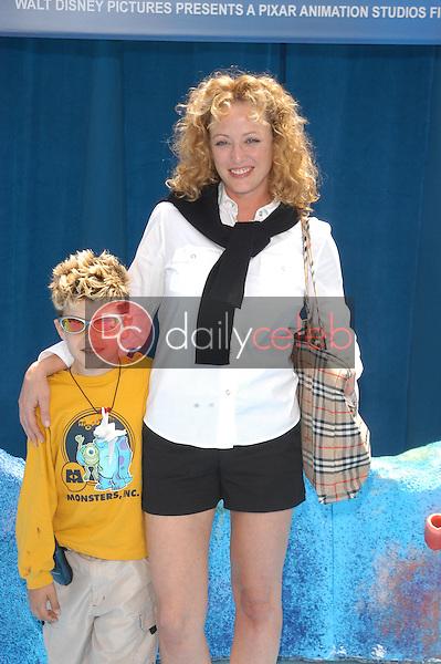 Virginia Madsen and son