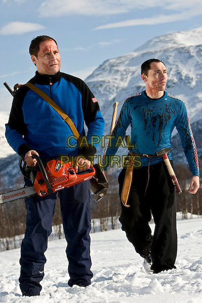 VEGAR HOEL & STIG FRODE HENRIKSEN.in Dead Snow (Dod sno).*Filmstill - Editorial Use Only*.CAP/FB.Supplied by Capital Pictures.