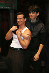 Dominic Nolfi and Bobby Conte Thornton during the Actors' Equity Gypsy Robe Ceremony honoring Jonathan Brody for  'A Bronx Tale'  at The Longacre on December 1, 2016 in New York City.