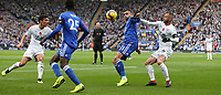 Leicester City's Rachid Ghezzal shields the ball from Burnley's Steven Defour<br /> <br /> Photographer Stephen White/CameraSport<br /> <br /> The Premier League - Saturday 10th November 2018 - Leicester City v Burnley - King Power Stadium - Leicester<br /> <br /> World Copyright &copy; 2018 CameraSport. All rights reserved. 43 Linden Ave. Countesthorpe. Leicester. England. LE8 5PG - Tel: +44 (0) 116 277 4147 - admin@camerasport.com - www.camerasport.com