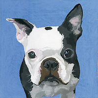 Painting of French Bulldog dog