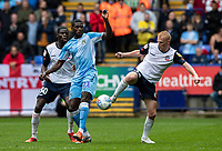 Bolton Wanderers' James Weir (right) competing with Coventry City's Amadou Bakayoko <br /> <br /> Photographer Andrew Kearns/CameraSport<br /> <br /> The EFL Sky Bet Championship - Bolton Wanderers v Coventry City - Saturday 10th August 2019 - University of Bolton Stadium - Bolton<br /> <br /> World Copyright © 2019 CameraSport. All rights reserved. 43 Linden Ave. Countesthorpe. Leicester. England. LE8 5PG - Tel: +44 (0) 116 277 4147 - admin@camerasport.com - www.camerasport.com