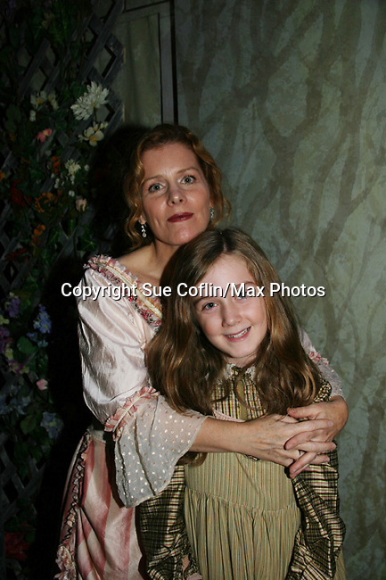 "Liz Keifer ""Rose"" and daughter Isabella Convertino who stars as ""Mary Lennox"" as Philipstown Depot Theatre presents Secret Garden on November 7, 2009 in Garrison, New York. It runs Oct. 23 until Nov 15, 2009. The musical The Secret Garden is the story of ""Mary Lennox"", a rich, spoiled child who finds herself suddenly an orphan when cholera wipes out the entire Indian village where she was living with her parents. She is sent to live in England with her only surviving relative, an uncle who has lived an unhappy life since the death of his wife 10 years ago. ""Archibald's son Colin"", has been ignored by his father who sees Colin only as the cause of his wife's death.This is essentially the story of three lost, unhappy souls who, together, learn how to live again while bringing Colin's mother's garden back to life. (Photo by Sue Coflin/Max Photos)...."