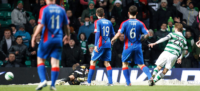 Paddy McCourt slots away Celtic's second goal