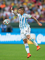 Marcos Rojo of Argentina controls the ball