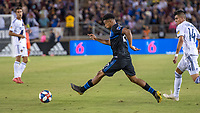 STANFORD, CA - JUNE 29: Marcos López #27 during a Major League Soccer (MLS) match between the San Jose Earthquakes and the LA Galaxy on June 29, 2019 at Stanford Stadium in Stanford, California.