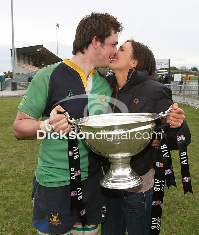 Chris Napier and Louise. AIB Cup Final 2009 Dubarry Park, Athlone. Mandatory Credit - Mandatory Credit - John Dickson