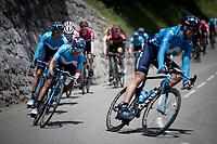 Nairo Quintana (COL/Movistar)<br /> <br /> Stage 6: Saint-Vulbas to Saint-Michel-de-Maurienne (228km)<br /> 71st Critérium du Dauphiné 2019 (2.UWT)<br /> <br /> ©kramon