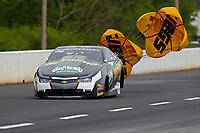 May 5, 2018; Commerce, GA, USA; NHRA pro stock driver Alex Laughlin during qualifying for the Southern Nationals at Atlanta Dragway. Mandatory Credit: Mark J. Rebilas-USA TODAY Sports