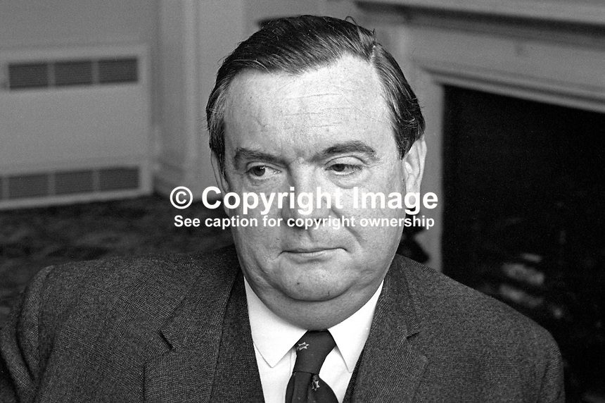 Brian McConnell, Minister of Commerce, N Ireland Parliament, Stormont, Belfast, 196606000122b.<br />