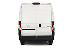 Straight rear view of a 2018 Peugeot Boxer Pro 3 Door Cargo Van stock images