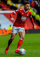 Nottingham Forest's midfielder Matty Cash (14) during the Sky Bet Championship match between Nottingham Forest and Derby County at the City Ground, Nottingham, England on 10 March 2018. Photo by Stephen Buckley / PRiME Media Images.
